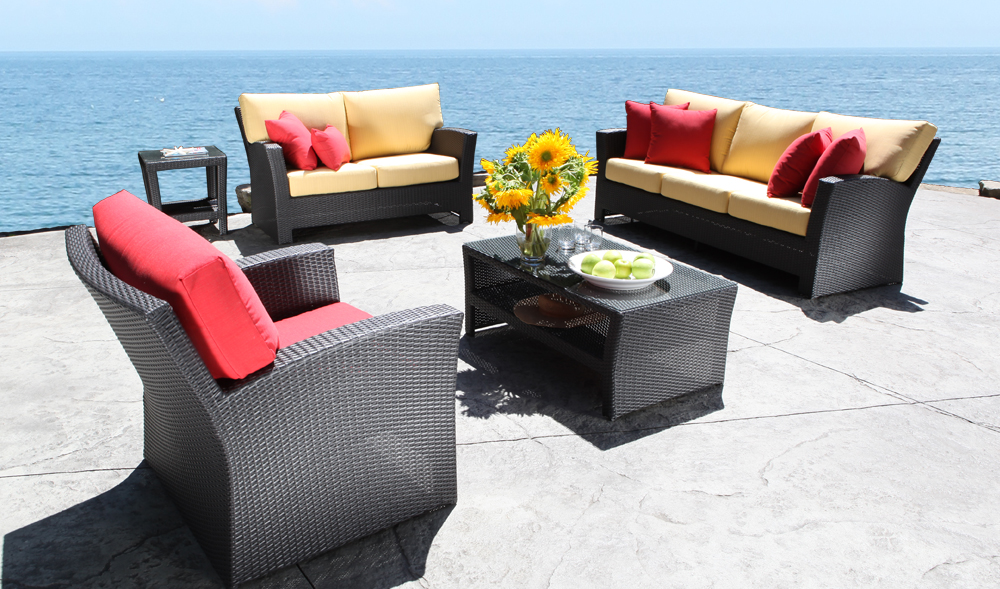 Outdoor Wicker Bimini Patio