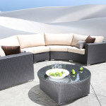 High End Modern Outdoor Wicker Sectional Patio Furniture - Chorus Curved Seating