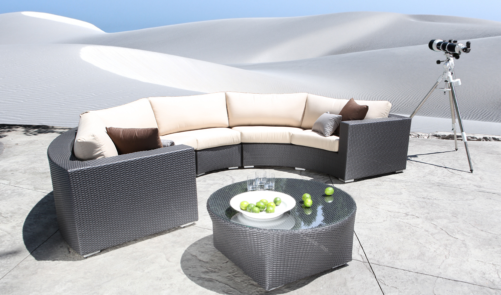 Chorus Outdoor Wicker Curved Sectional