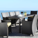 Stylish Modern Outdoor Wicker Patio Furniture - Flight Dining Collection in Burlington