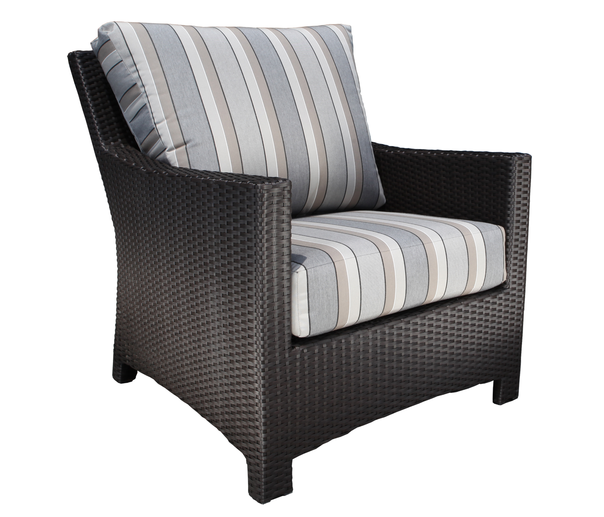 Flight wicker deep seating chair patio furniture at sun for Deep seating outdoor furniture