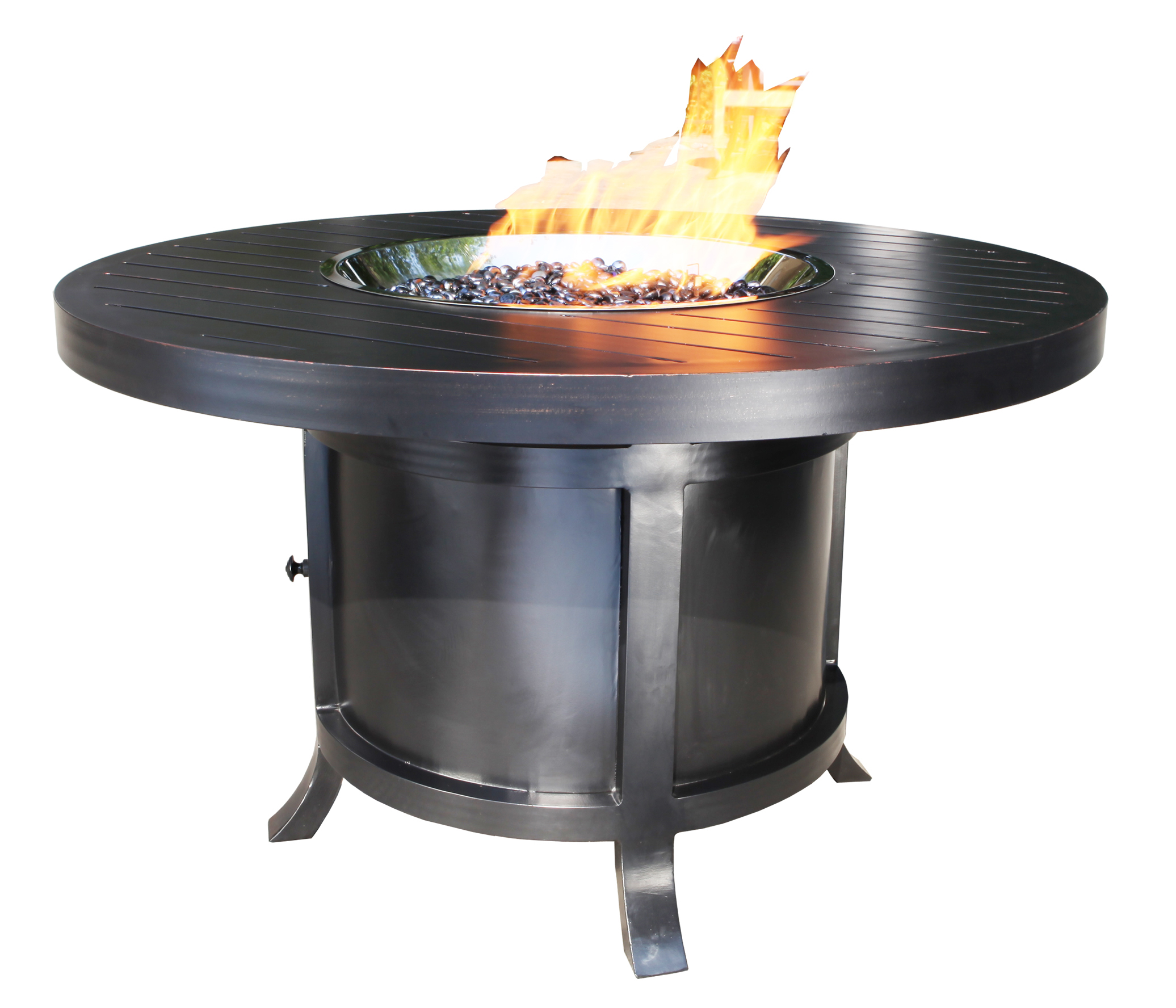 Outdoor Fire Pit Aluminum 42 Quot Round Patio Furniture At