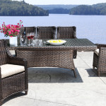 High End Modern Outdoor Wicker Dining Patio Furniture