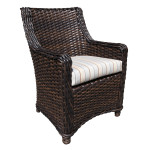 Dining Chair - Wicker With Stainless Steel Patio Furniture