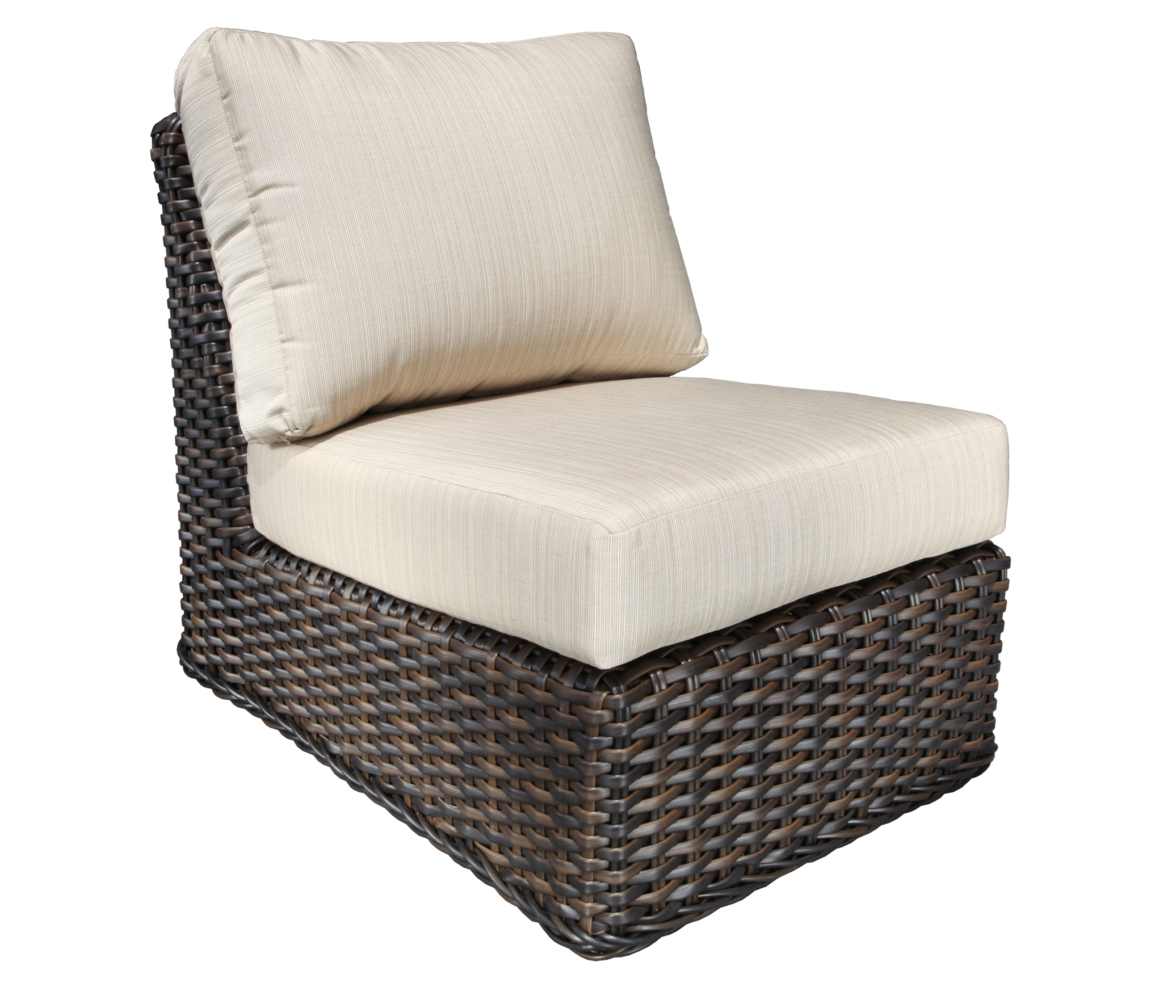 Nevada Wicker Sectional Slipper Chair Patio Furniture At