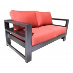 Modern Contemporary Cast Aluminum Patio Furniture - Aura Loveseat