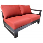 Aura Sectional High End Luxury Cast Aluminum Patio Furniture
