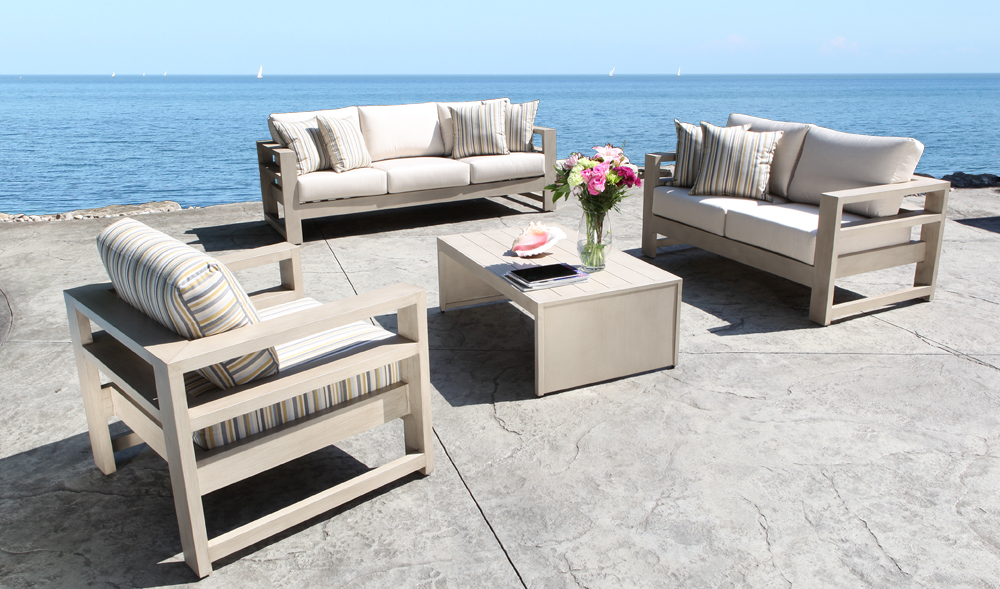 Contemporary Cast Aluminum Furniture Aura Seating