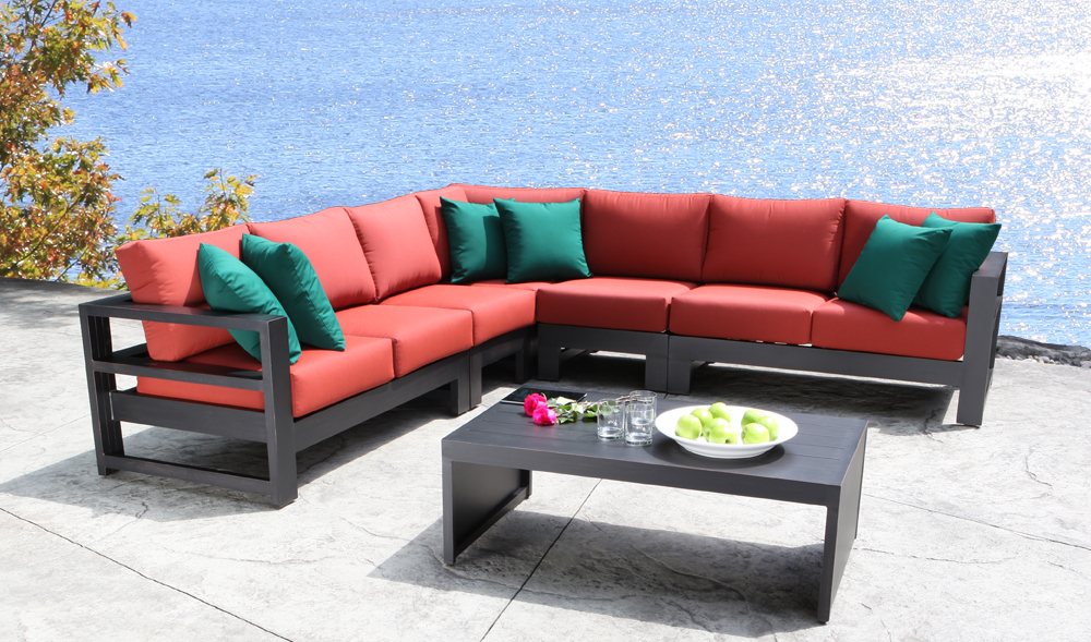 Modern Contemporary Cast Aluminum Patio Furniture Sectional