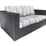 Modern Outdoor Wicker Patio Furniture - Chorus Loveseat