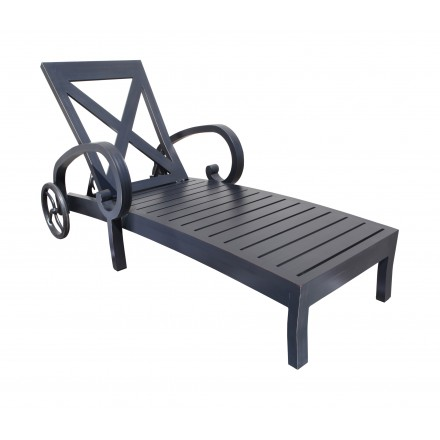 Milano cast aluminum deep seating chaise lounge patio at for Cast aluminum chaise