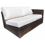 Contemporary Outdoor Resin Wicker Patio Furniture - Louvre Sectional