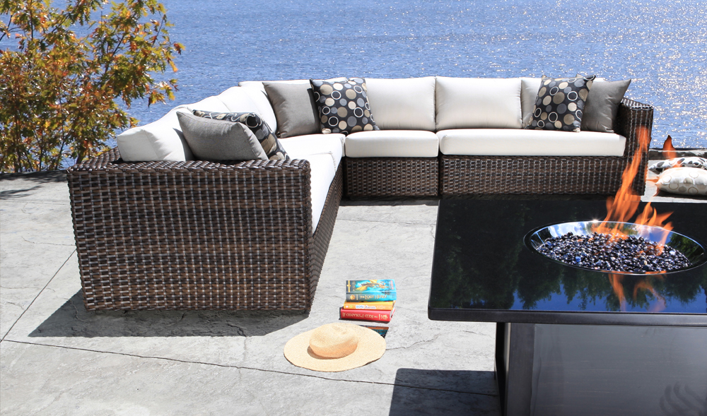 Louvre Wicker Sectional - Patio Furniture Toronto