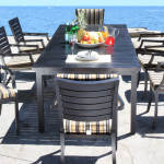 Modern Designer Cast Aluminum Patio Furniture - Mission Style Dining
