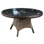 Contemporary Outdoor Wicker Patio Furniture - Nevada Dining Table