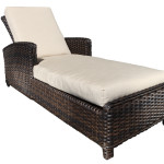 Stylish Modern Outdoor Wicker Patio Furniture - Chaise Lounge