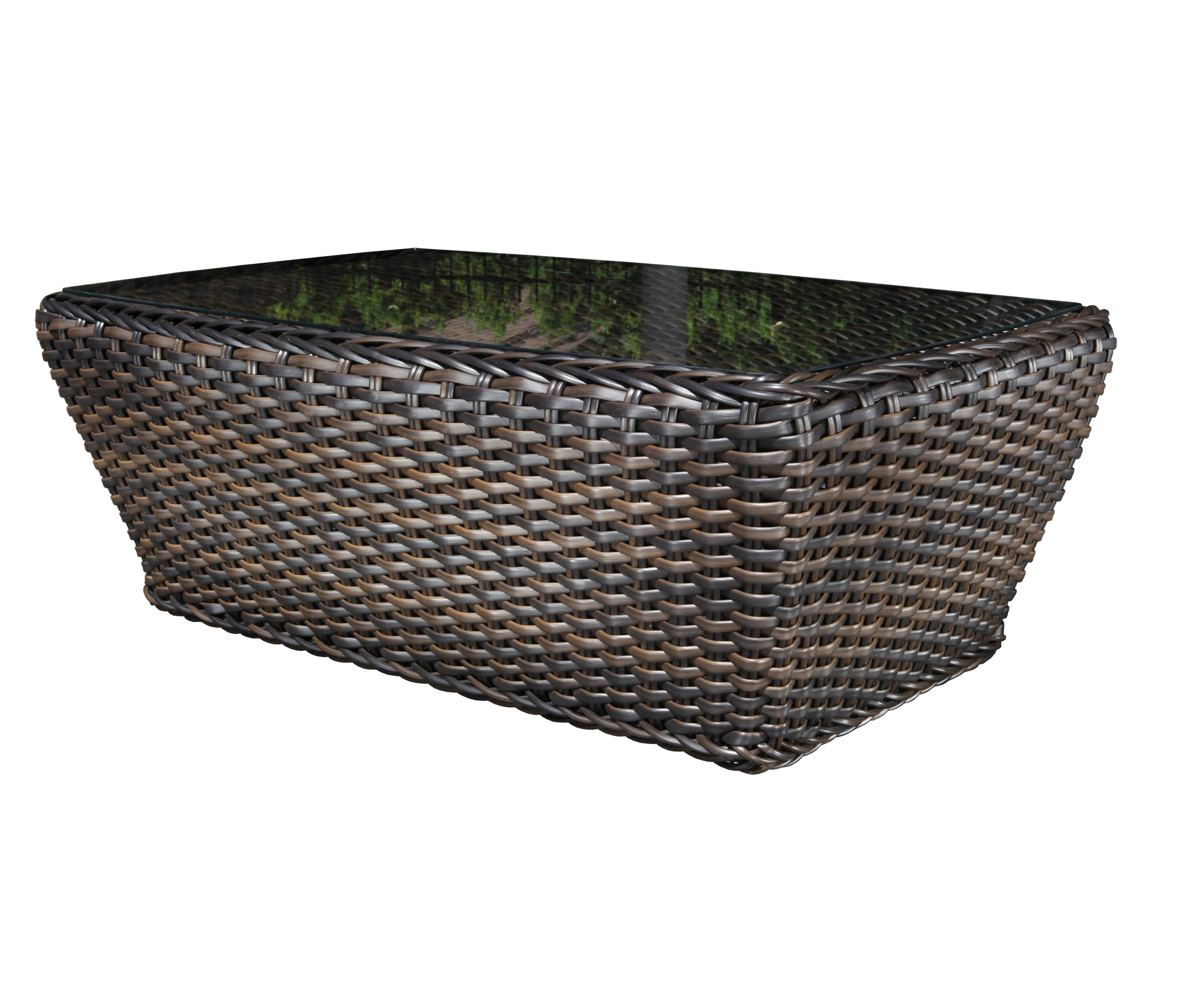 Nevada Wicker Deep Seating Coffee Table Patio At Sun Country