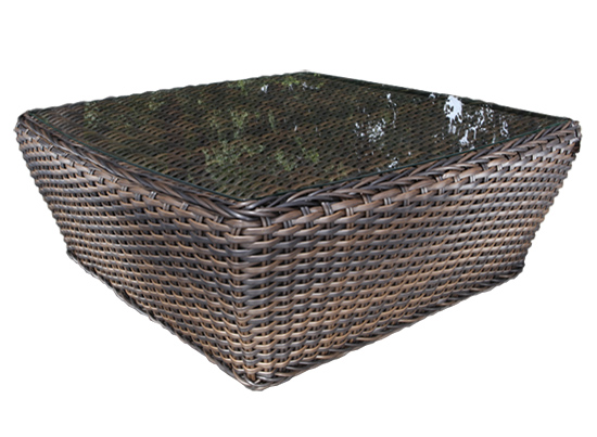 Nevada Wicker Square Coffee Table Patio Furniture At Sun Country