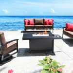 Oasis Modern Contemporary Cast Aluminum Patio Furniture