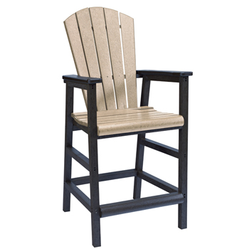 Recycled Plastic Outdoor Bar Chair Patio Furniture At