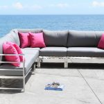Modern Stainless Steel Outdoor Sectional - Soho