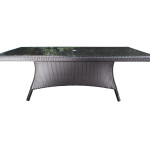 Durable Contemporary Outdoor Wicker Patio Furniture - Solano Dining Table