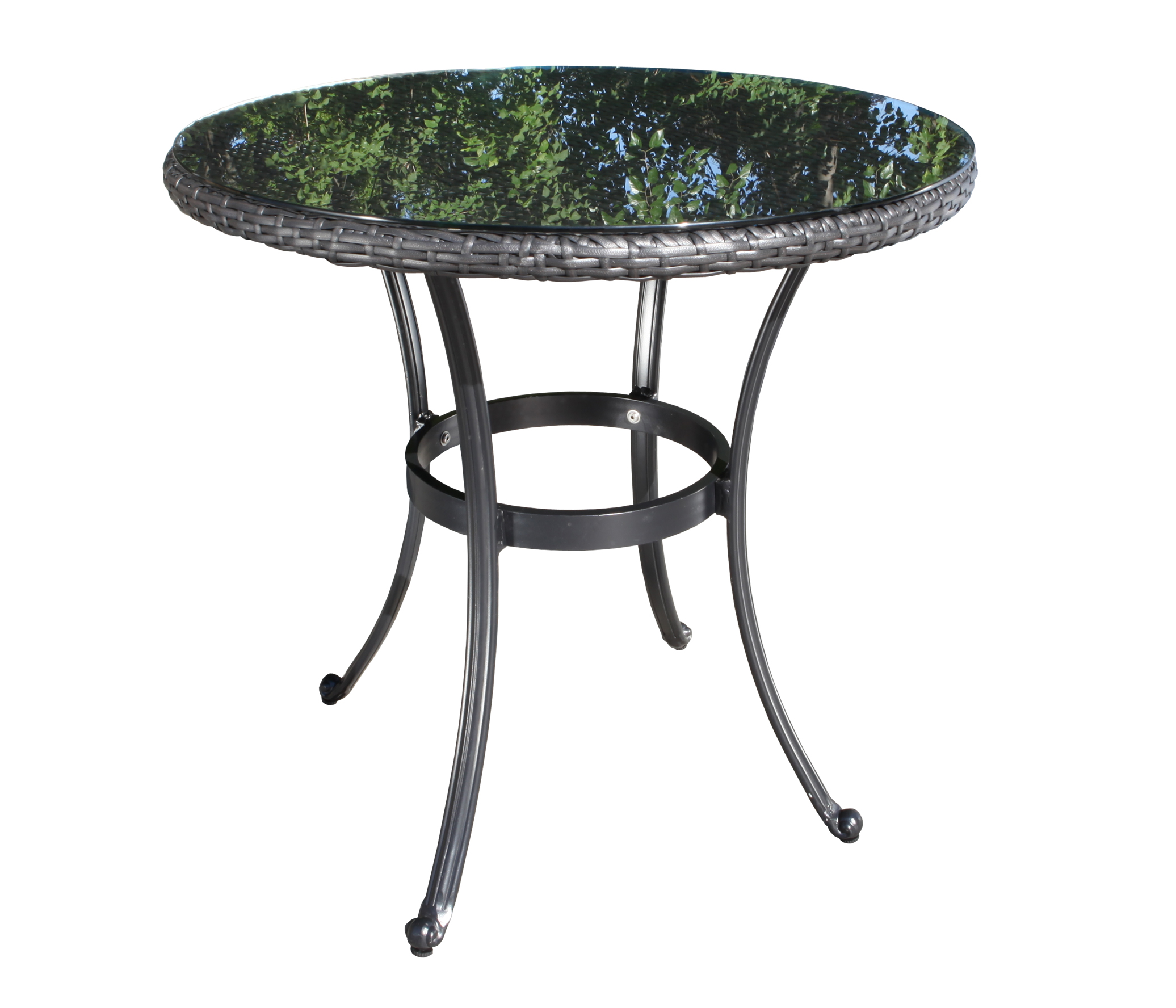 Solano Round Wicker Dining Table Patio Furniture At Sun