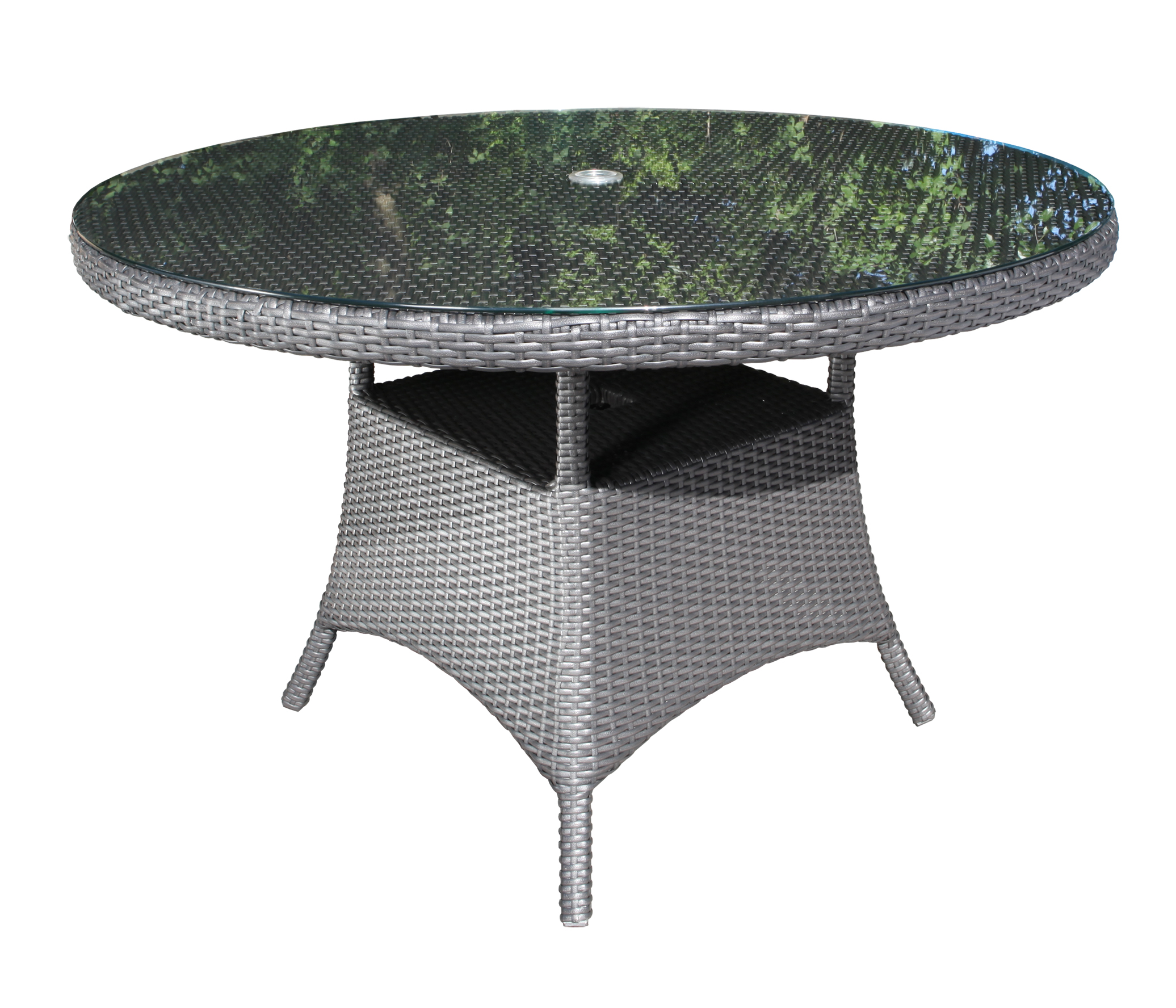 Solano Round Wicker 42 Quot Dining Table Patio Furniture At