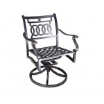 Cast Aluminum Patio Furniture - Verona Swivel Rocking Chair
