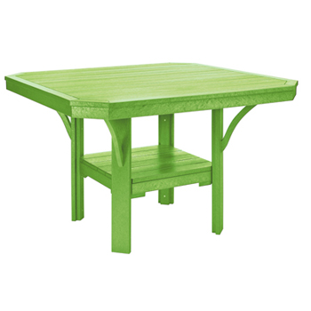 Recycled Plastic Square Deluxe Table Patio Furniture At