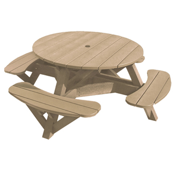Plastic Picnic Table : Recycled Plastic Outdoor Picnic Table - Patio Furniture at Sun Country