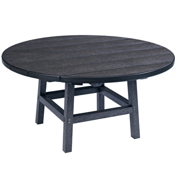 Recycled Plastic Round Coffee Table Patio Furniture At