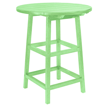 Recycled Plastic Round Bar Table Patio Furniture At Sun