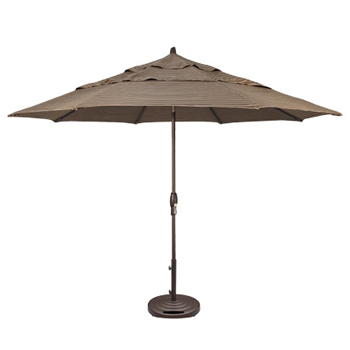 Patio Umbrella 11 Ft Auto Tilt Market Patio At Sun Country