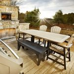 Recycled Plastic / Faux Teak Patio Furniture