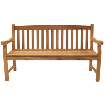Sailmate teak three seater bench patio furniture at sun for Outdoor furniture 3 seater