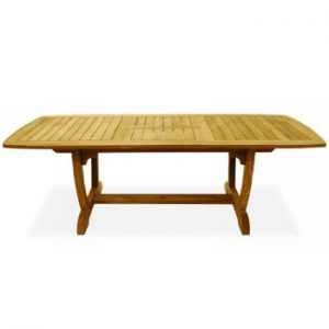 Teak Patio Furniture - Expansion Dining Table with Two Leaves