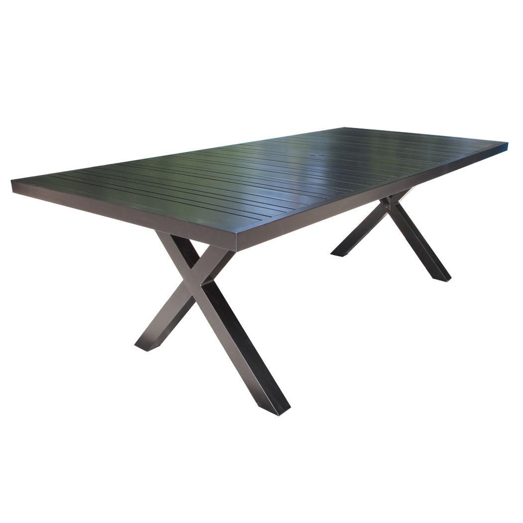 Milano Cast Aluminum 72 Quot Dining Table Patio Furniture By