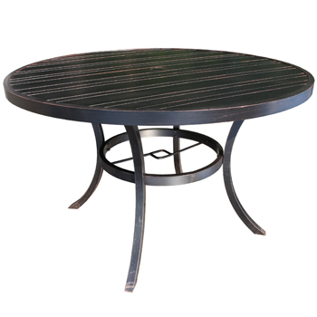 Milano Cast Aluminum 60 Round Dining Table Patio At Sun Country