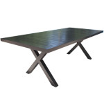 Modern Patio Furniture - Aluminum Rectangular Dining Table - Milano by Cabana Coast