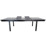 Contemporary Outdoor Dining Table Monaco Extendible Aluminum