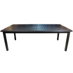 Modern Aluminum Outdoor Furniture - Monaco 114 Dining Table