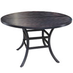 Aluminum Patio Furniture - Small Round Dining Table - Monaco