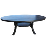 Aluminum Patio Furniture - Large Round Dining Table by Cabana Coast