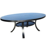 Monaco Aluminum Dining Table - Large Egg Shape