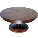 Aluminum Patio Furniture - Monaco Round Pedestal Coffee Table