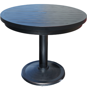 monaco round pedestal dining table   patio furniture at