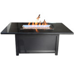 Outdoor Fire Pit - Rectangular and Modern - Granite