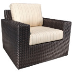 Modern Outdoor Wicker Chair - Deep Seating - Haven Collection Sunbrella Fabric