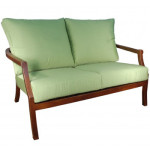 Patio Furniture Loveseat - Cast Aluminum by Cabana Coast - Mission Collection